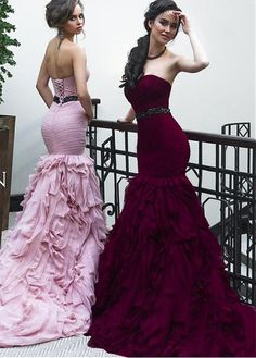 Attractive Tulle Sweetheart Neckline Mermaid Evening Dresses With Beadings