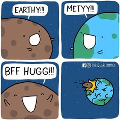 When you haven't seen your best friend in a billion years. Also, made this to a video on fb! Check it out on fb.com/thesquarecomics. Link in bio!