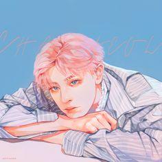 Embedded Exo Anime, Exo Fan Art, Kpop Drawings, Kpop Fanart, Boy Art, Anime Art Girl, Aesthetic Art, Illustrations Posters, Art Inspo