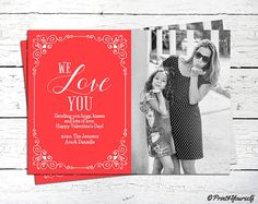 Valentines Photo Card // Personalized Printable Happy