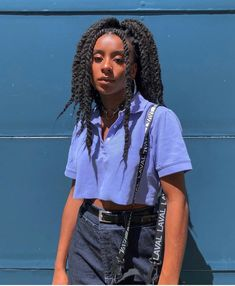 Image may contain: 1 person, standing Indie Outfits, Retro Outfits, Trendy Outfits, Girl Outfits, Cute Outfits, Fashion Outfits, Black Girl Aesthetic, Aesthetic Fashion, Aesthetic Clothes