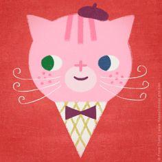 ice cream cat | flora chang, Happy Doodle Land