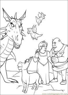 shrek 3 10 coloring page