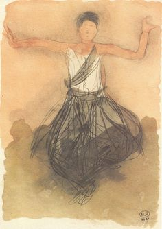 Cambodian Dancer by Auguste Rodin. Massive range of art prints, posters & canvases. Auguste Rodin, Rodin Drawing, Sketches Of People, Ink In Water, Artist Sketchbook, Principles Of Art, Albrecht Durer, Life Drawing, Figure Drawing