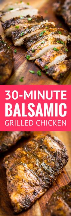 30-Minute Juicy Balsamic Grilled Chicken -- this balsamic grilled chicken recipe makes the most juicy & succulent boneless skinless breasts EVER w/ just 4 ingredients + 10 minutes of marinating time! And it's Whole30 compliant. | balsamic grilled chicken marinade | healthy balsamic grilled chicken | whole30 balsamic grilled chicken | whole30 chicken marinade | whole30 grilled chicken | find the recipe on unsophisticook.com #whole30 #whole30recipes #grilledchicken #chickenmarinade…