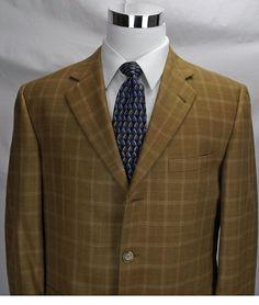 "Burberry London Wool Silk Men's Sport Coat ""Kensington"" 42R Made In the USA…"