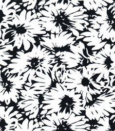 Nicole Miller Scuba Knit Fabric-Daisy Black/White