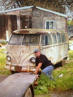 Vw bus 1959 barn find