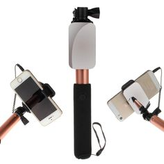 Universal Luxury Extendable Selfie Stick Monopod for Iphone samsung Android IOS Wired Selfie Groove Camera palo selfie stickers