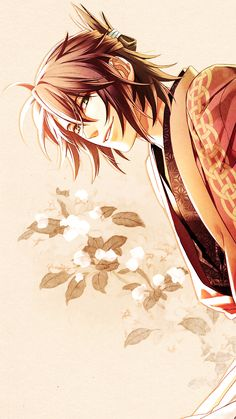 Okita Souji. -- Anime, Hakuouki, character, fan art, handsome and attractive man, hot guy