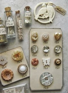 ❥ French Laundry~ vintage buttons and baubles