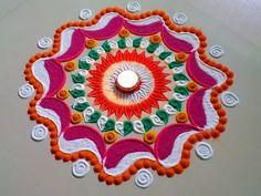 Dark colour Diwali special easy rangoli design by DEEPIKA PANT - YouTube