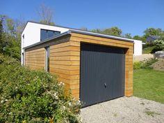 Moderne holzgarage  Eine moderne Holzgarage für Sie! Mehr Angabe auf www.pineca.de ...