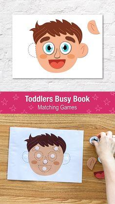 Body Parts Preschool Activities, Body Preschool, Preschool Learning Activities, Infant Activities, Activities For Kids, Animal Activities, Toddler Preschool, Baby Quiet Book, Quiet Books