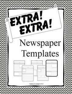 A Student Newspaper Template To Use For Class Writing Projects Or