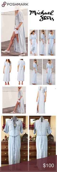 3863a635941 Anthropologie Michael Stars Chambray Dress. NWT. NWT