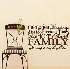 Family Collage Vinyl Lettering wall words graphics Home decor itswritteninvinyl