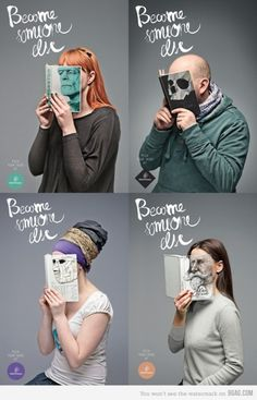 """Become Someone Else"", a genius ad campaign for Mint Vinetu bookstore by Lithuanian advertising firm Love Agency"