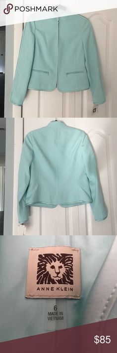 Anne Klein zippered Blazer Light blue Anne Klein zippered Blazer.  New with tags.  ❌no holds and no trades❌ Anne Klein Jackets & Coats Blazers