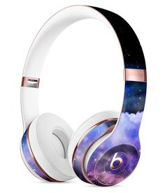 Vibrant Purple Deep Space Full-Body Skin Kit for the Beats by Dre Solo 3 Wireless Headphones - Pin to Pin Best In Ear Headphones, Cute Headphones, Bluetooth Headphones, Skullcandy Headphones, Beats By Dre, Fort Kit, Best Gaming Headset, Accessoires Iphone, Cs Lewis