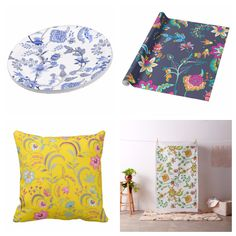 NEW #abstract #flowers #floral theme. Available in different products #paperplate #wrappingpaper #pillow #fabric and more at store. Check detail at #zazzle www.zazzle.com/celebrationideas