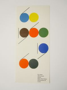 Year card by Walter Marti, 1960