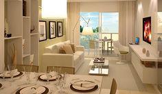 Apartamento decorado by construtora Odebrechet..