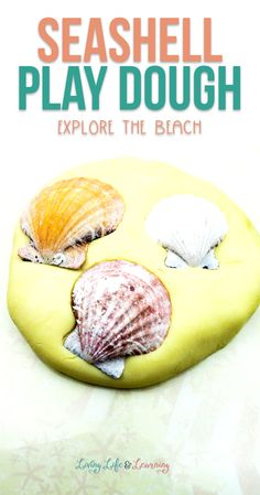 My seashell themed jello play dough recipe is the perfect way to bring the beach home. Explore shells with this nice soft dough for a fun beach day! Bubble Activities, Playdough Activities, Summer Activities For Kids, Crafts For Kids, Rainy Day Crafts, Play Dough, Dough Recipe, Creative Kids, Beach Fun