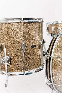 C&C Drums Europe - Vintage Drums - Player Date Europe - Ginger Glass Glitter - Floor Tom (Detail) www.candcdrumseurope.com