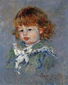 """Portrait de Jean-Pierre Hoschedé, dit """"Bébé Jean"""" : Claude Monet,1878"""