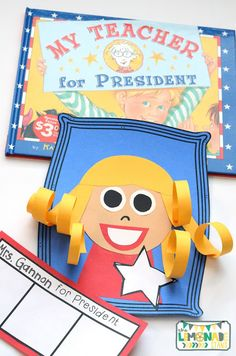 This Presidents' Day pack is the perfect ELA unit for the week of Presidents' Day.  It's full of Presidents' Day crafts, Presidents' Day activities, and has a focus on identifying key ideas and details in text.  Great for kindergarten through second grade.  Presidents Day craft | art | education | My Teacher for President craft