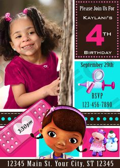 Cute Doc Mcstuffins Digital Birthday Party by SDBDIRECT on Etsy, $14.99