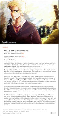Gryffindor!Jason | Hogwarts AU