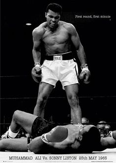 Iconic shot, Ali against Sonny Liston.