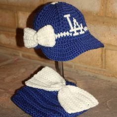cf32d751f01 Girls Baseball BABY hat and big bow diaper cover