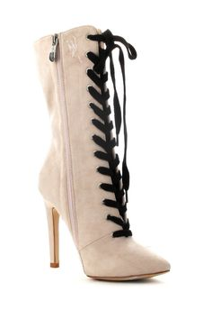 Wild Diva Lounge Blossom Lace-Up Boot Z57rSGg