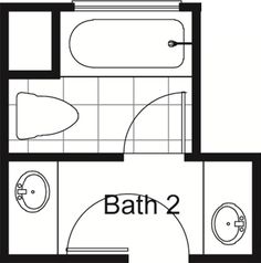 bathroom floor plans with tub and toilet in separate room - Google Search