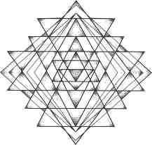 Sri yantra mandala tattoo