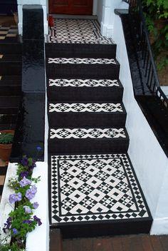 Black and white steps