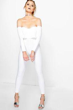 Petite Millie Double Layer Skinny Leg Jumpsuit | Boohoo