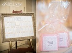 Seating Chart & Favors | WedLuxe Magazine