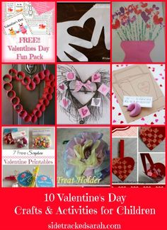 10 V-day Crafts and activities for kids!!