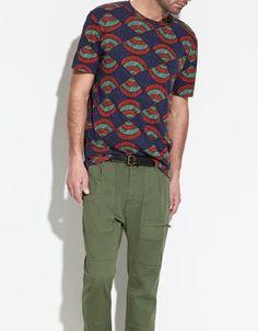 printed zara tshirt