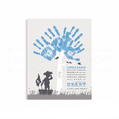 DIYGift for Grandparent  Handprint Tree with children's silhouettes  #PaperRamma