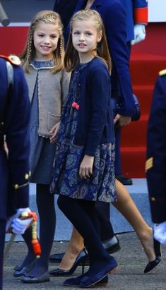 Royal Family Around the World: Spanish Royals Attend National Day Military Parade 2015 on October 12, 2015 in Madrid, Spain.