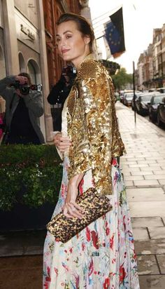 British model and designer Yasmin Le Bon arrives at the Marie Curie Cancer Care Fundraiser in central London, on May 15, 2012.