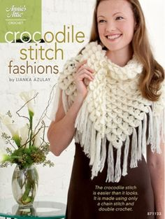 Crocodile Stitch FashionsThe Crocodile Stitch is all the talk in crochet. You can tell why this stitch is called the Crocodile stitch just by looking at the designs. It is actually much easier than it looks! An intermediate crocheter or even a dedicated beginner will master this stitch in no time at all. The actual crocodile