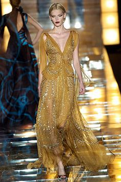 Elie Saab Fall 2004 Couture Fashion Show - Margarita Svegzdaite