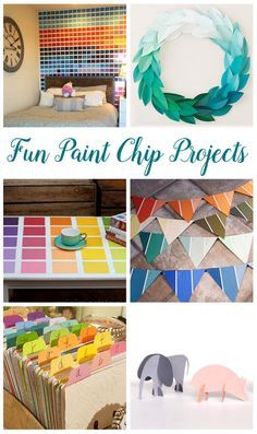 Easily make these colorful projects with paint chips - Mommy Scene