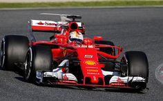 Descargar fondos de pantalla Sebastian Vettel, 4k, Ferrari SF15-T, de la Scuderia Ferrari de 2017, los coches, Fórmula 1, F1